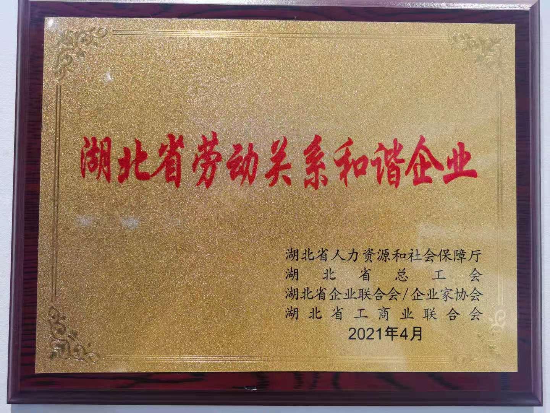 湖北省勞動關系和諧企業